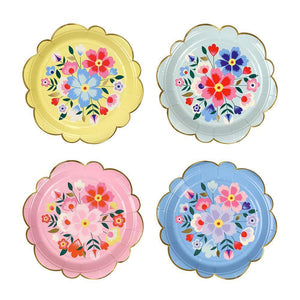 Bright Floral Kashmiri Small Paper Plates - Ellie and Piper