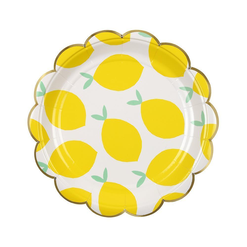 Lemon Small Paper Plates - Ellie and Piper