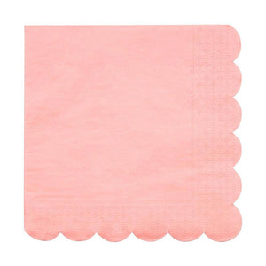 Neon Coral Large Napkins - Ellie and Piper