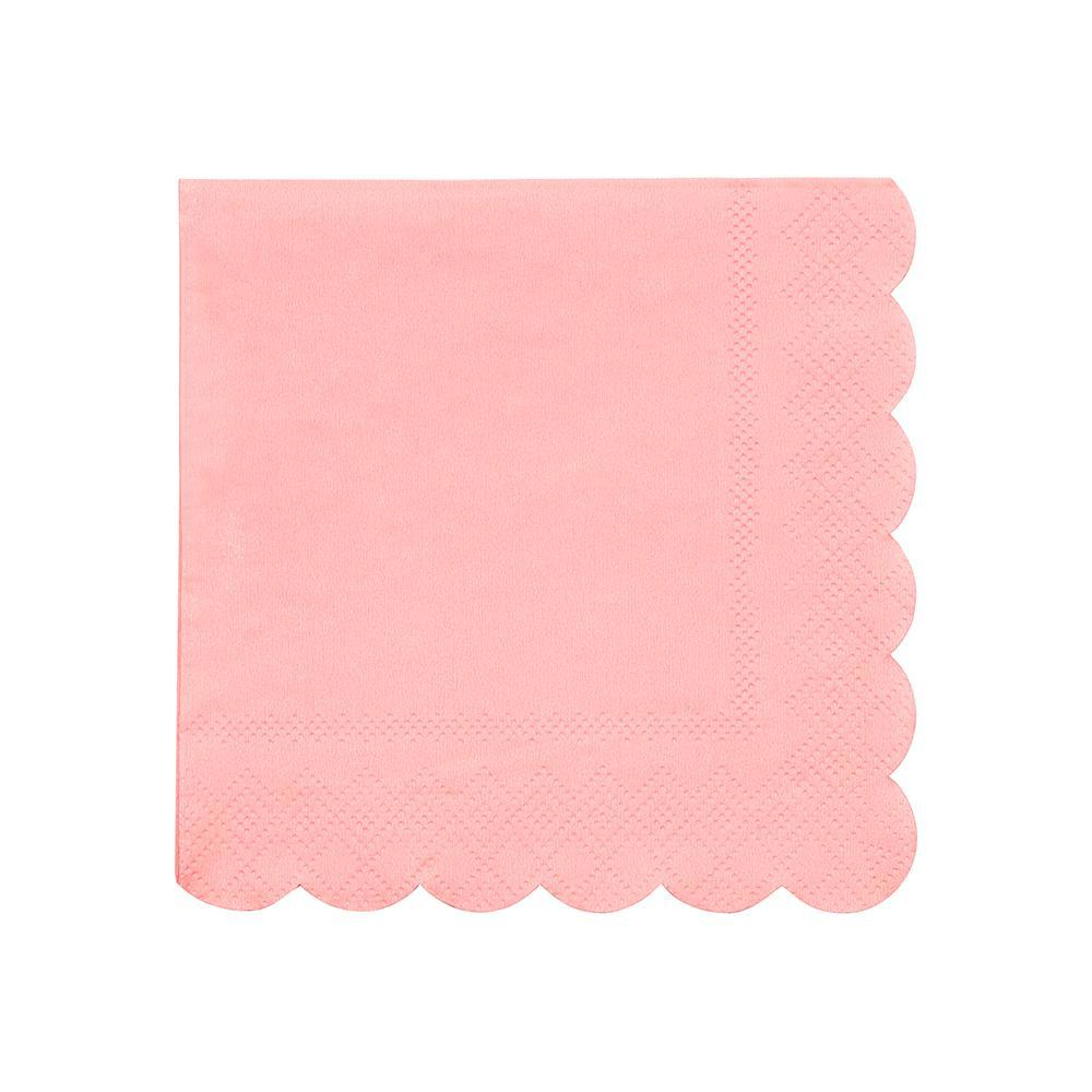 Neon Coral Small Napkins - Ellie and Piper