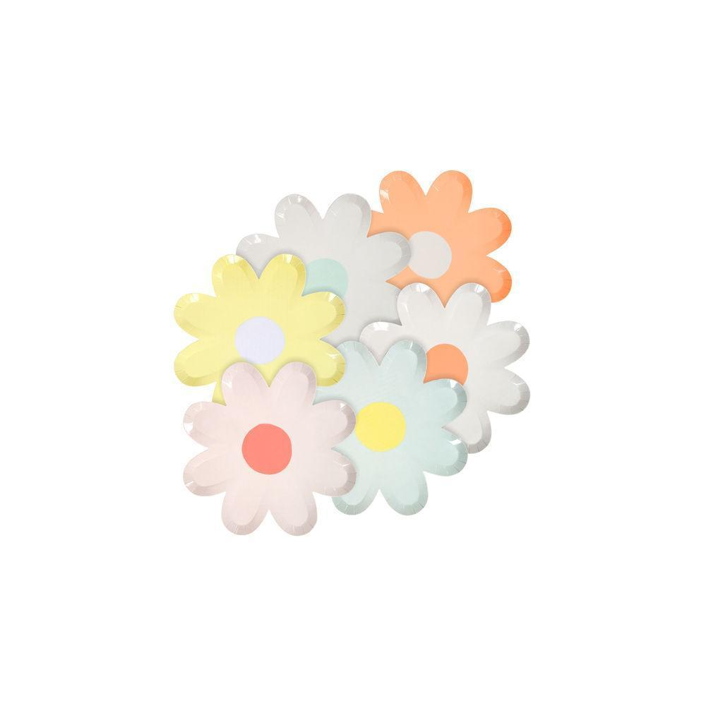 Pastel Daisy Canapé Paper Plates - Ellie and Piper Party Boutique