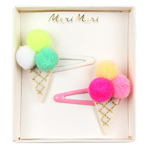 Pom Pom Ice Cream Hair Pins
