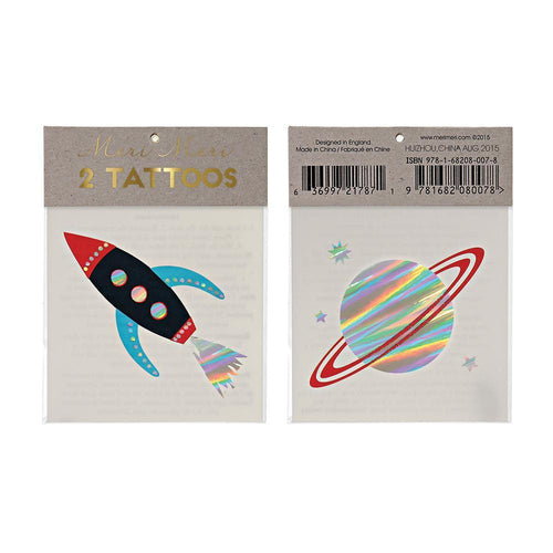 Rocket & Planet Space Tattoos