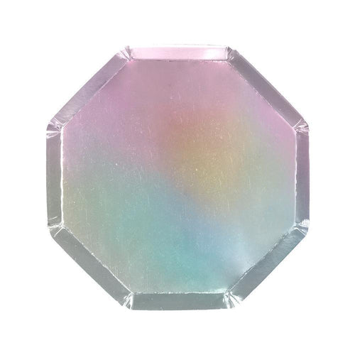 Silver Holographic Small Plates
