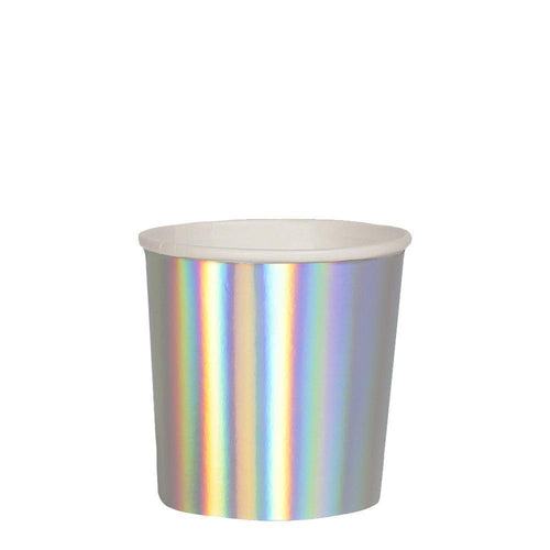 Silver Holographic Tumbler Cups - Ellie and Piper