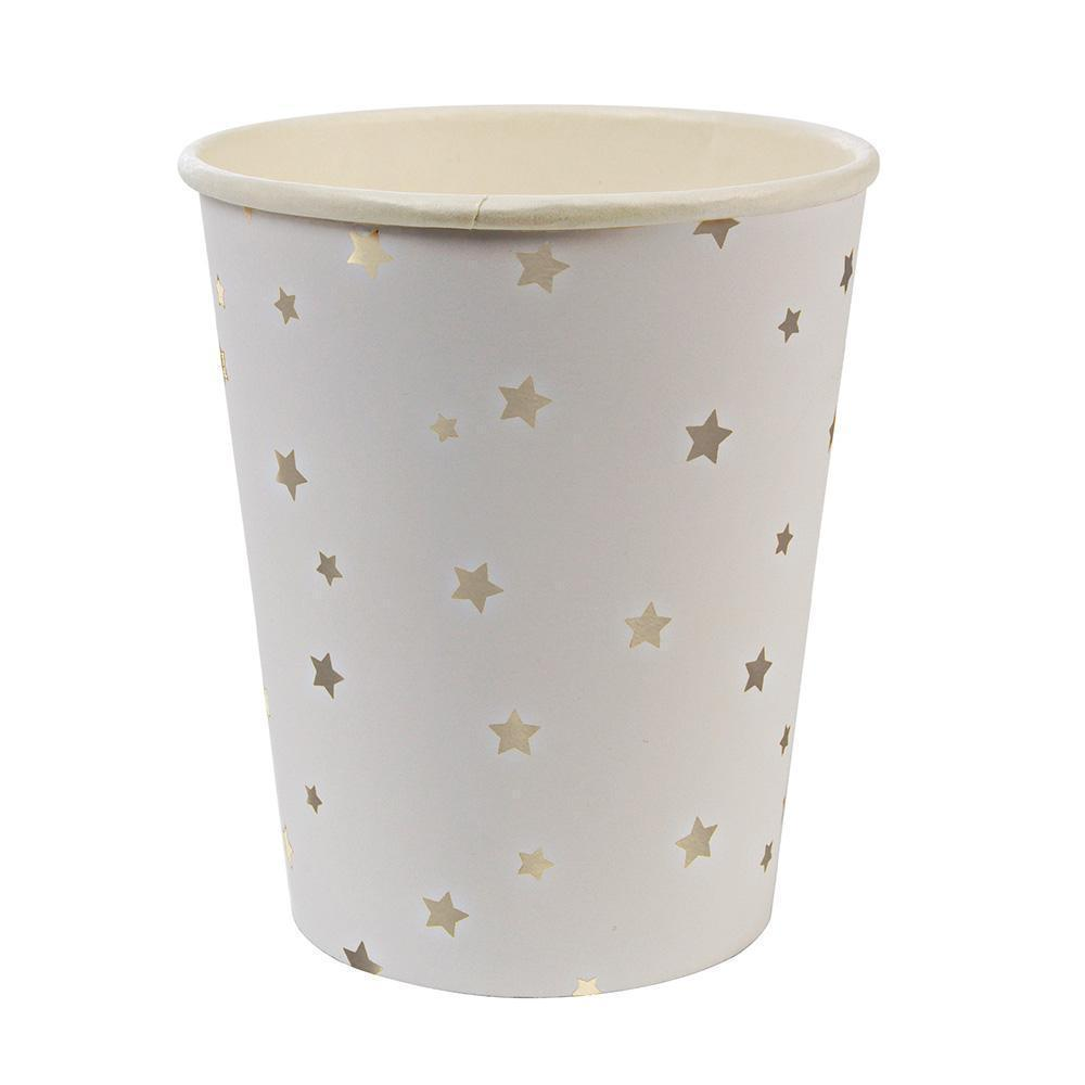 Silver Star Confetti Cups - Ellie and Piper