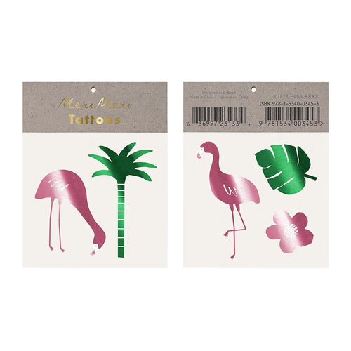 Tropical Flamingo Temporary Tattoos