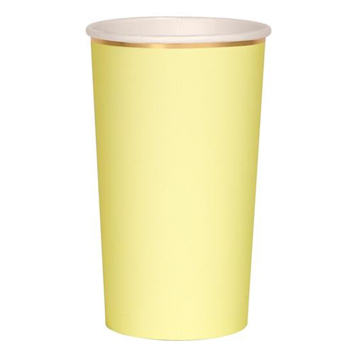 Yellow Tall Party Paper Cups