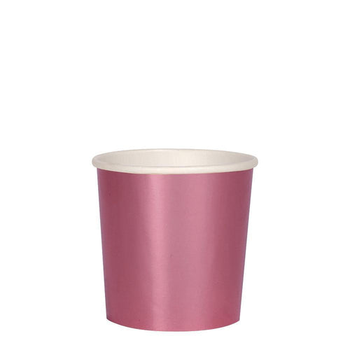 Metallic Pink Tumbler Cups - Ellie and Piper
