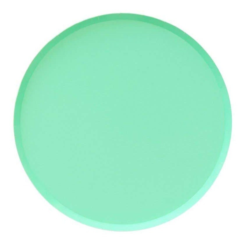 Mint Paper Plates (2 Sizes) - Ellie and Piper