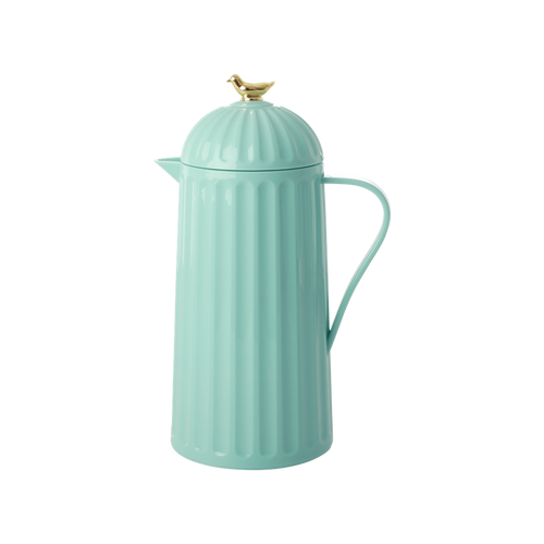 Mint Green Thermos Pitcher with Gold Birdie - Ellie and Piper