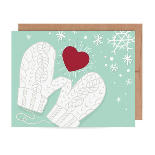 Mittens Scratch-Off 'You Warm My Heart' Card - Ellie and Piper