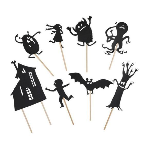 Glow In The Dark Shadow Puppets - Monsters