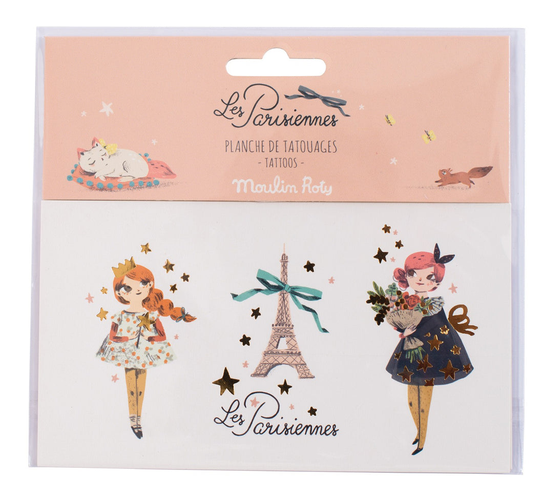 Les Parisiennes Temporary Tattoos - Ellie and Piper