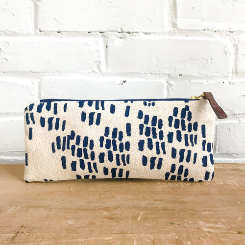 Erin Flett Navy Rain Pencil Zipper Bag Ellie & Piper Party Boutique