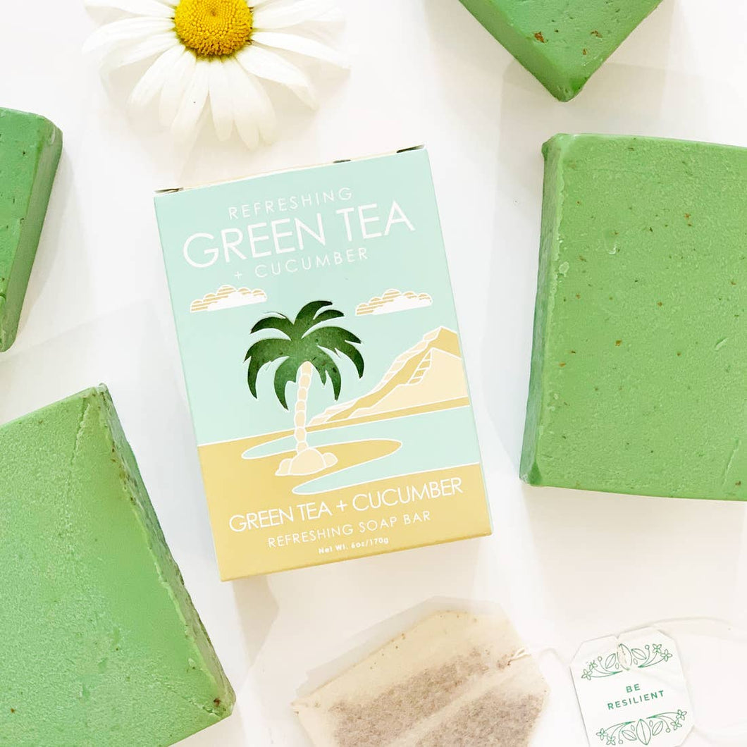 Natural Element Soap Bar - Green Tea - Ellie and Piper