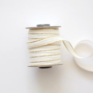 DRITTOFILO COTTON RIBBON - NATURAL/GOLD
