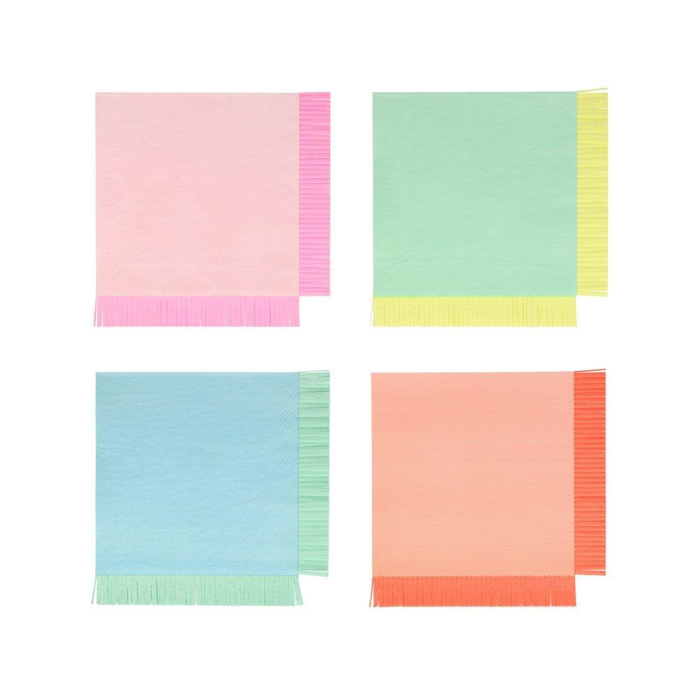Neon Fringe Large Napkins - Ellie and Piper