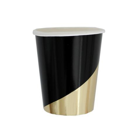 Noir Black Colorblock Paper Cups - Ellie and Piper