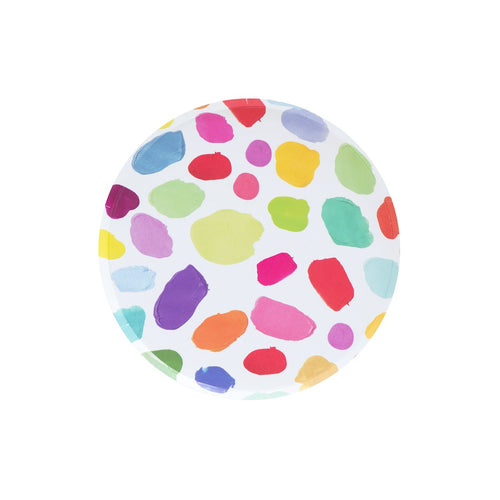 kindah oh happy day small plates rainbow colorful patterned Ellie and piper party boutique