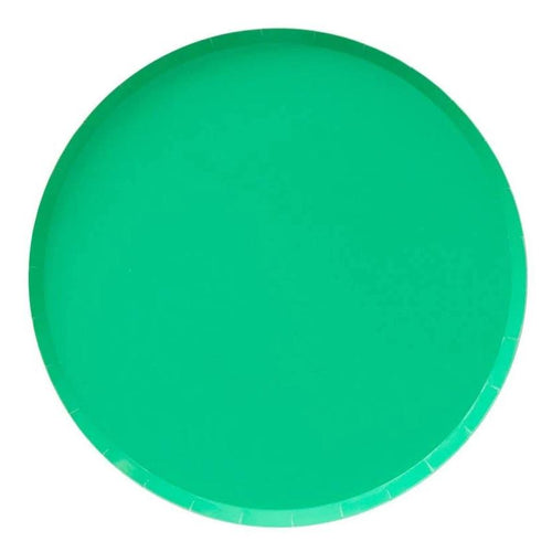 Kelly Green Large Paper Plates - Ellie and Piper