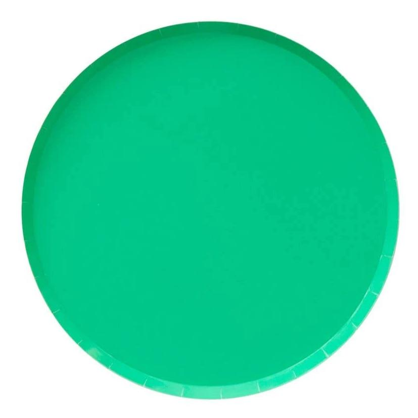 Kelly Green Paper Plates (2 sizes) - Ellie and Piper