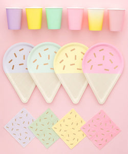 Gelato Ice Cream Novelty Paper Plates