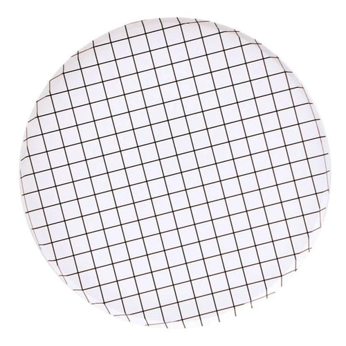 BLACK AND WHITE GRID PLATES (LARGE)