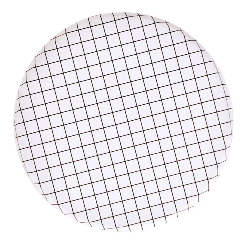 Black And White Grid Paper Plates (Large) - Ellie and Piper Party Boutique