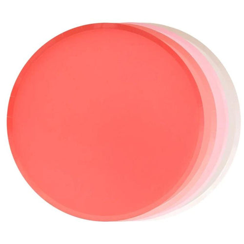 Assorted Ombre Pink and Peach Paper Plates - Ellie and Piper