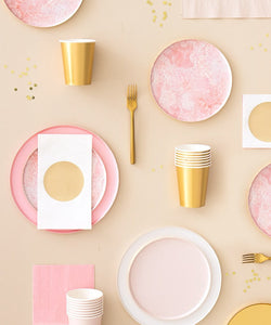 Rose Pink Quartz Small Paper Plates - Ellie and Piper