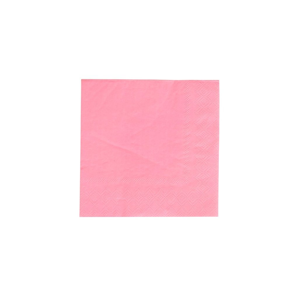 Neon Rose Pink Cocktail Napkins - Ellie and Piper