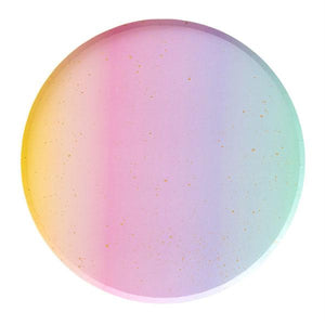 Rainbow Ombré Paper Plates (2 sizes) - Ellie and Piper