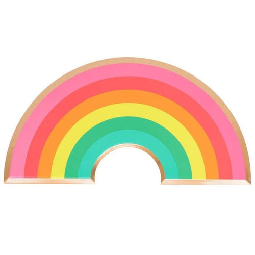 Rainbow Shaped Novelty Paper Plates