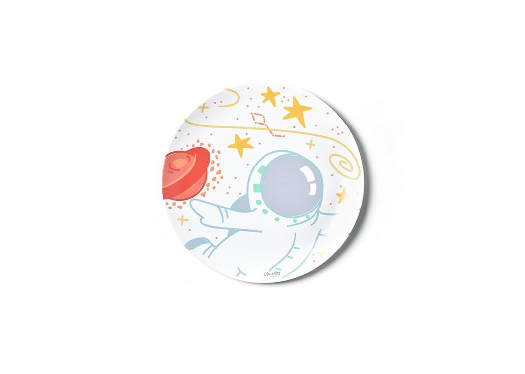Outer Space Astronaut Melamine Dinner Plate - Ellie and Piper