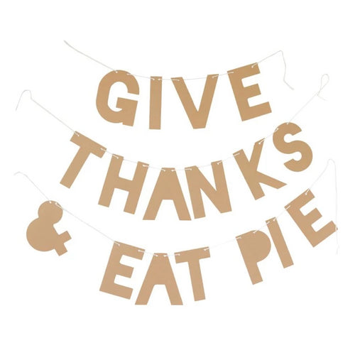 Party Banner - Give Thanks & Eat Pie Ellie & Piper Party Boutique