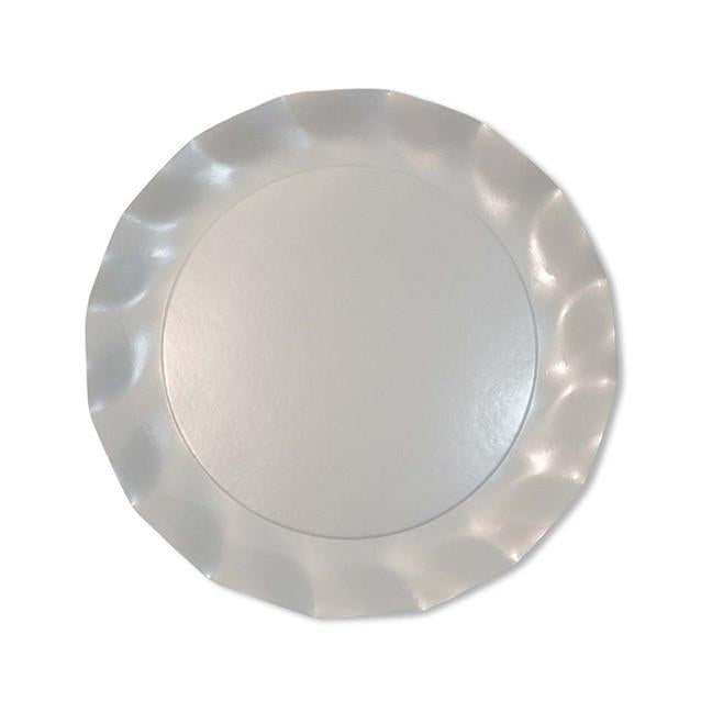 Pearly White Wavy Salad Plate - Ellie and Piper