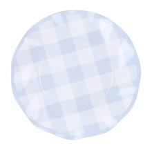 Blue Gingham Wavy Salad Plate - Ellie and Piper