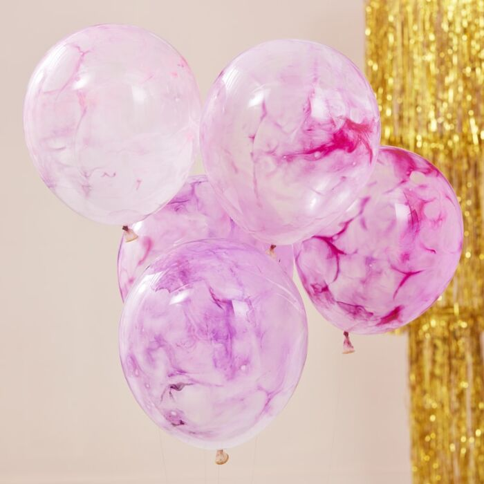 Pink Paint Balloon Bouquet - Ellie and Piper