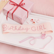 Pink Glitter Birthday Girl Sash - Ellie and Piper