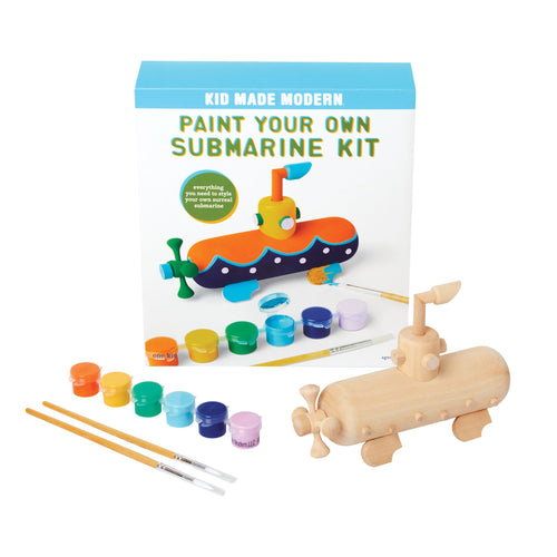 Paint Your Own Submarine Kit Kid Made Modern