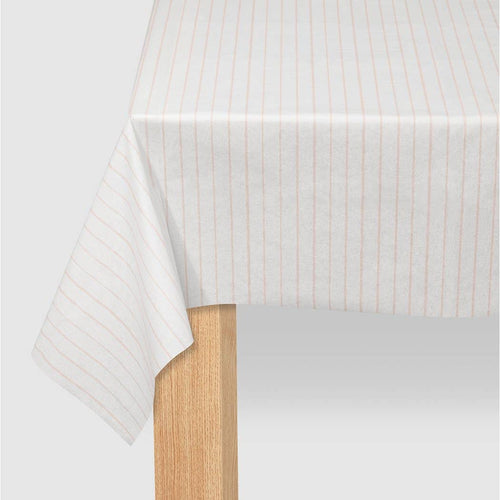 Pale Pink Pinstripe Tablecloth - Ellie and Piper
