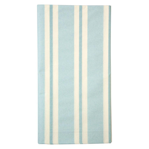 Pale Blue Stripe Paper Tablecloth - Ellie and Piper