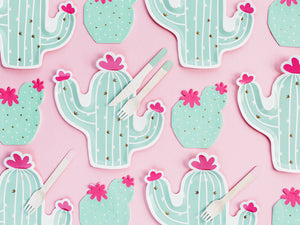 Cactus Paper Plates - Ellie and Piper