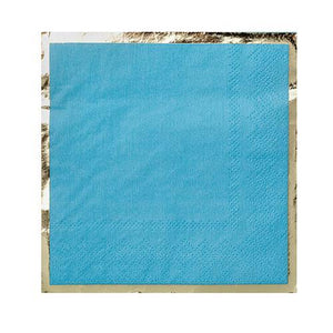Party Cocktail Napkin - Blue My Mind Turquoise