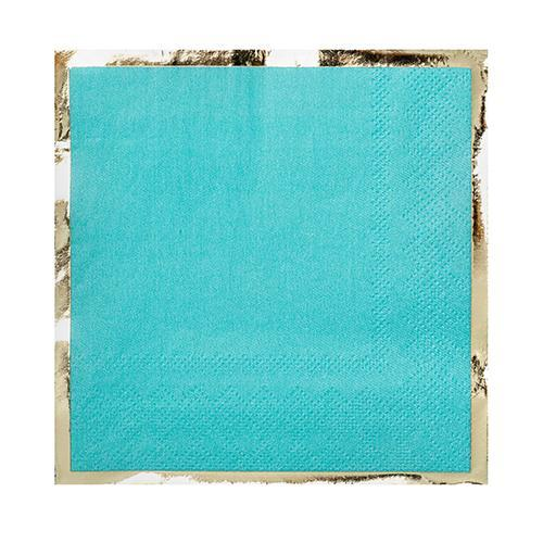 Party Cocktail Napkin - Buoy Bye Aqua Blue