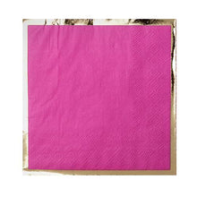Party Cocktail Napkin - Pinky Pie Bright Pink