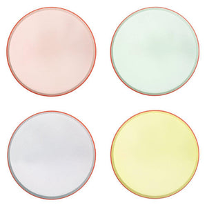 Pastel Neon Edge Paper Dinner Plates - Ellie and Piper