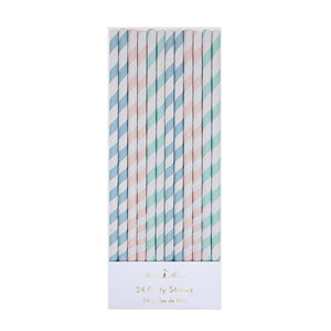 Pastel Stripes Party Straws - Ellie and Piper