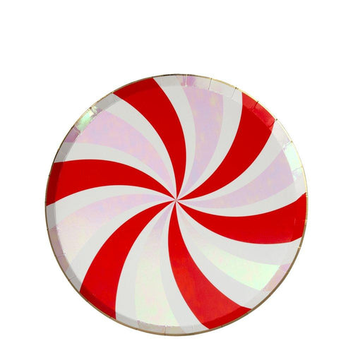 Peppermint Swirl Paper Side Plates - Ellie and Piper